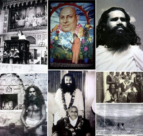 collage of rare images of Swami Satchidananda